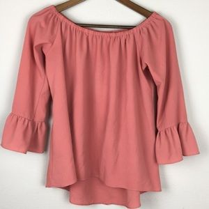 Paper Crane Bell Sleeve Peasant Top